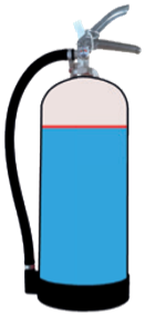 graphic of inside normal fire extinguisher